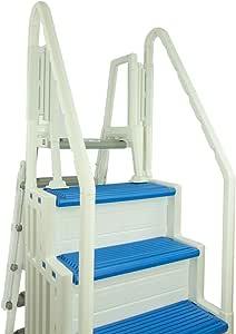 MRT SUPPLY Sistema de entrada de piscina y escalera Paso 1 en piscina, color azul con libro electrónico: Amazon.es: Jardín