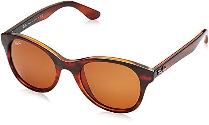 46ead56a9bf Ray-Ban RB4203 Sunglasses Shiny Striped Havana Dark Brown 51mm   Cleaning  Kit Bundle