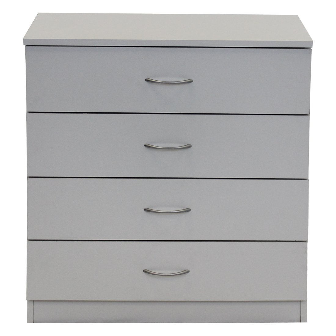 Devoted2Home Boldon Budget Bedroom Furniture - 4 Drawer Chest Drawers - White