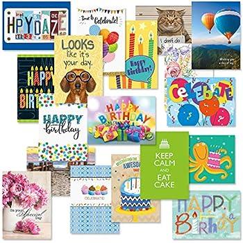 Amazon.com: Tarjetas de felicitación de cumpleaños, paquete ...