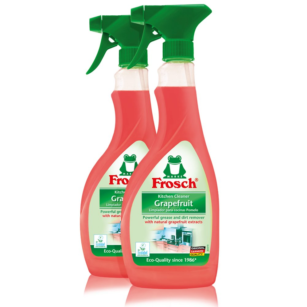 Frosch Natural Grapefruit Multi-Surface Kitchen Cleaner Spray, 500ml (Pack of 2)