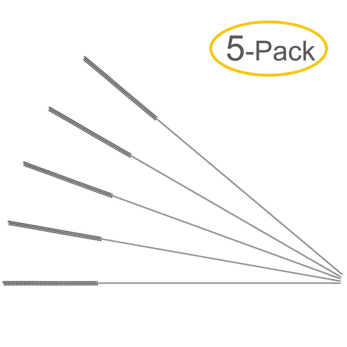 0.4mm Drill Bits - 3D Printer Nozzle Cleaning Kit - Stainless Steel, 4.1' Length (5-Pack)