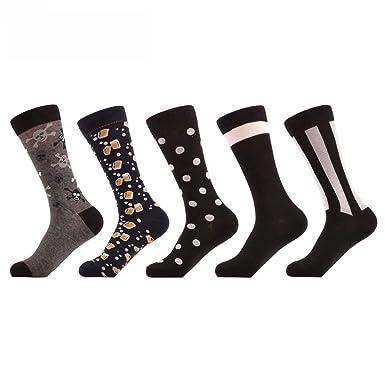 Amazon.com: PinkBTFY 5Pairs Men Sock Calcetines Striped Harajuku Male Socks Breathable Long Crew Socks: Clothing