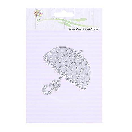 AFFEco DIY paraguas troquelado plantillas scrapbooking papel repujado tarjeta decoración metal molde
