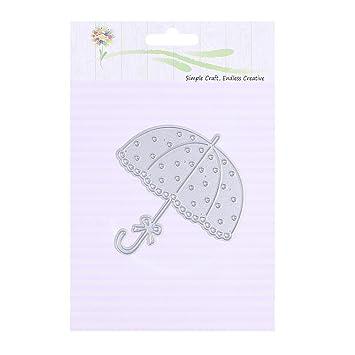 AFFEco DIY paraguas troquelado plantillas scrapbooking papel repujado tarjeta decoración metal molde: Amazon.es: Hogar
