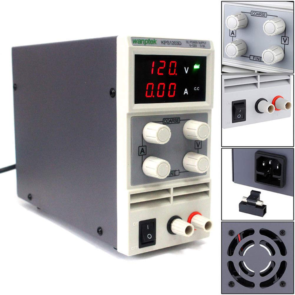 0-120V//3A Digital DC Power Supply Adjustable Switching Lab Bench Test Equipment