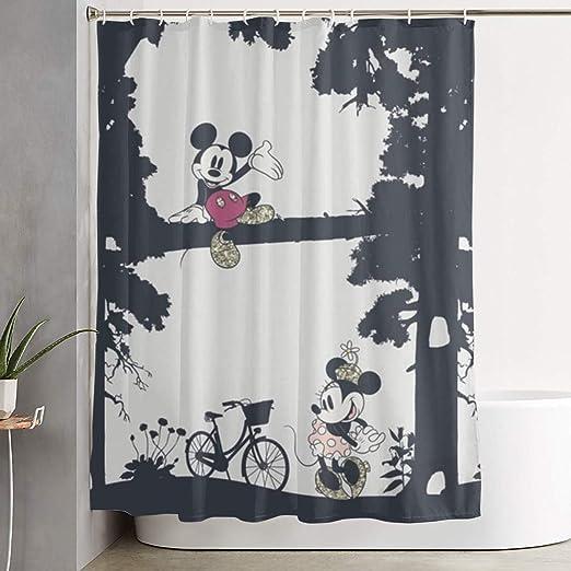Amazon.com: Duwamesva Shower Curtain Mickey and Minnie Mouse Art