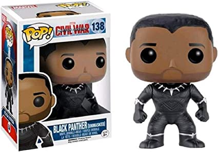 Funko Exclusive Captain America 3 Civil War POP Black Panther Unmasked POP
