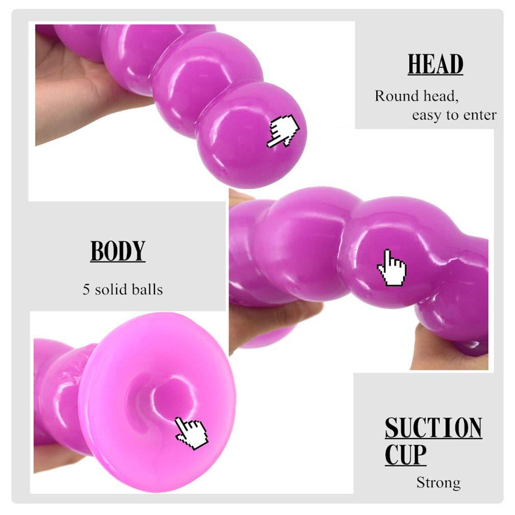 Dildo, 20,5 Cm Suave Realista Y Realista Suave Forma Única G-Spot Estimulante Femenino Juguetes (Negro/Carne/Púrpura),Purple 0ef993