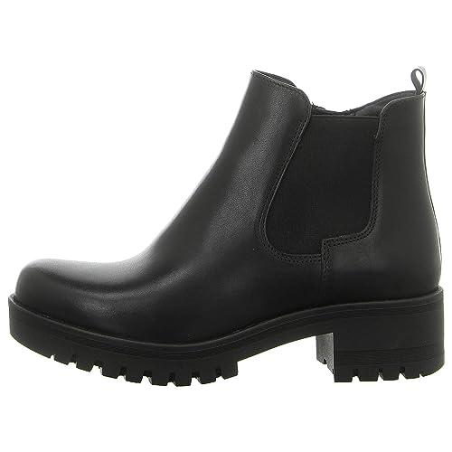 Tamaris Damen Plateau Chelsea Boots Schwarz