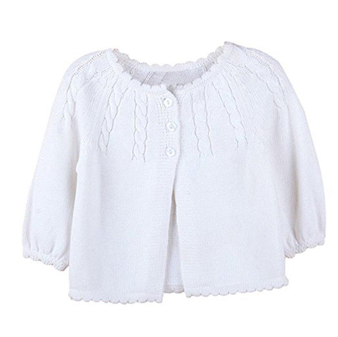 Toddler Kid Little Infant Girls Twist Ruffle Fine Knit Button-Down Cardigan Sweater Rca31