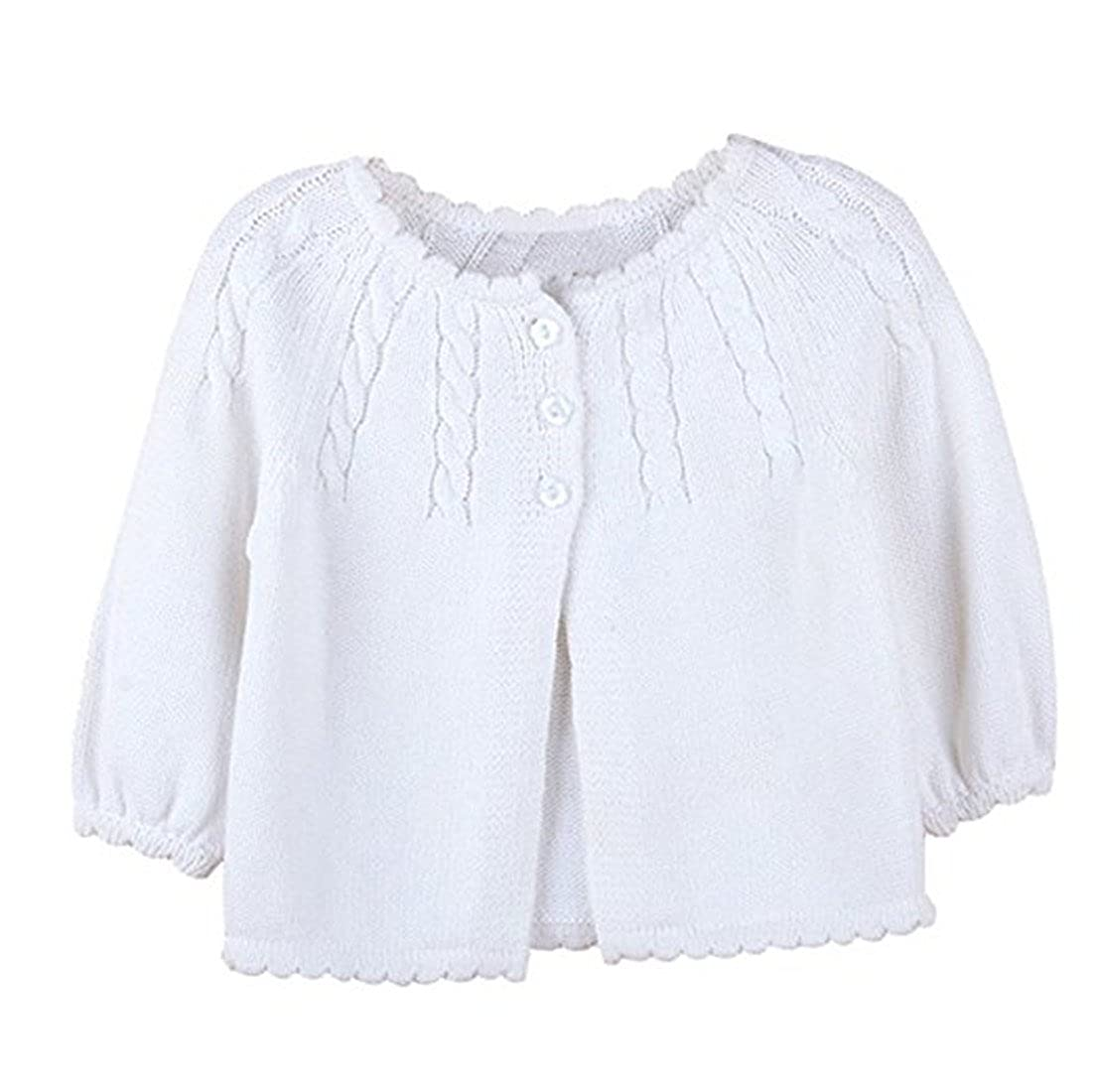 Toddler Kid Little Infant Girls Twist Ruffle Fine Knit Button-Down Cardigan Sweater Rca31
