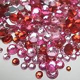 高品質アクリルストーン ラインストーン MIXパック 約1000粒入り ピンク系
