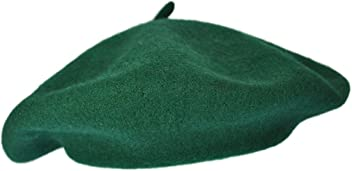 8b46cc52be5 Village Hat Shop Dark Green Wool Fashion Beret