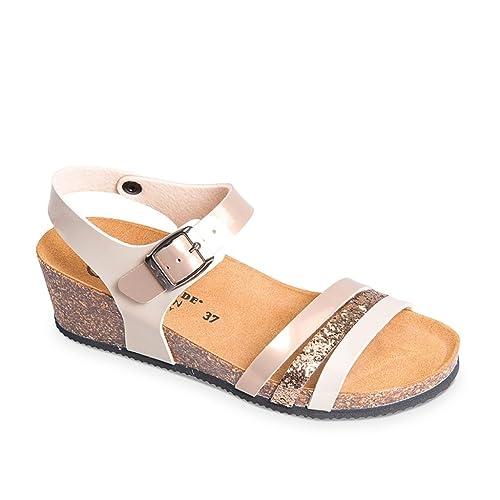 76587072e5e1 VALLEVERDE Sandalo Scarpe Bio Zeppa Sughero Donna Tortora: Amazon.it: Scarpe  e borse