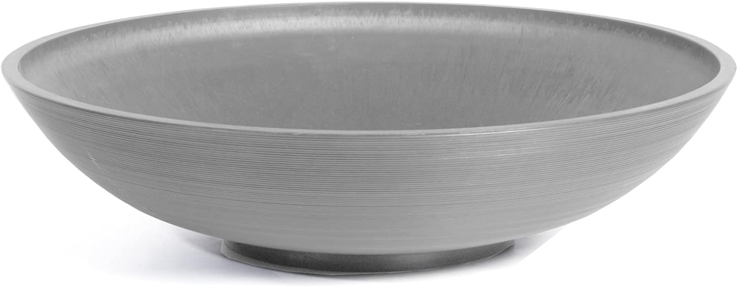 Veradek Lane Round Bowl Planter, 8-Inch Height by 32-Inch Diameter, Charcoal (LBV32C)
