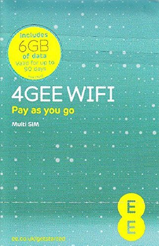 Europe (UK EE) 4G Mobile Broadband Data SIM preloaded with 6GB lasting 90 days FREE ROAMING / USE in Europe -
