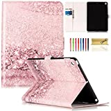 New iPad 9.7-inch 2017/2018 Case, Dteck PU Leather [Art Print Design] Wallet Folio Stand Shockproof Kids Case Smart Cover with Cash/Card Slots for iPad 9.7 (Model A1822 A1823 A1893 A1954), Bubble