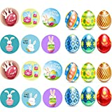 Easter Sticker Egg Sticker Bunny Sticker Rolls 200 Stickers Happy Easter Waterproof Stickers
