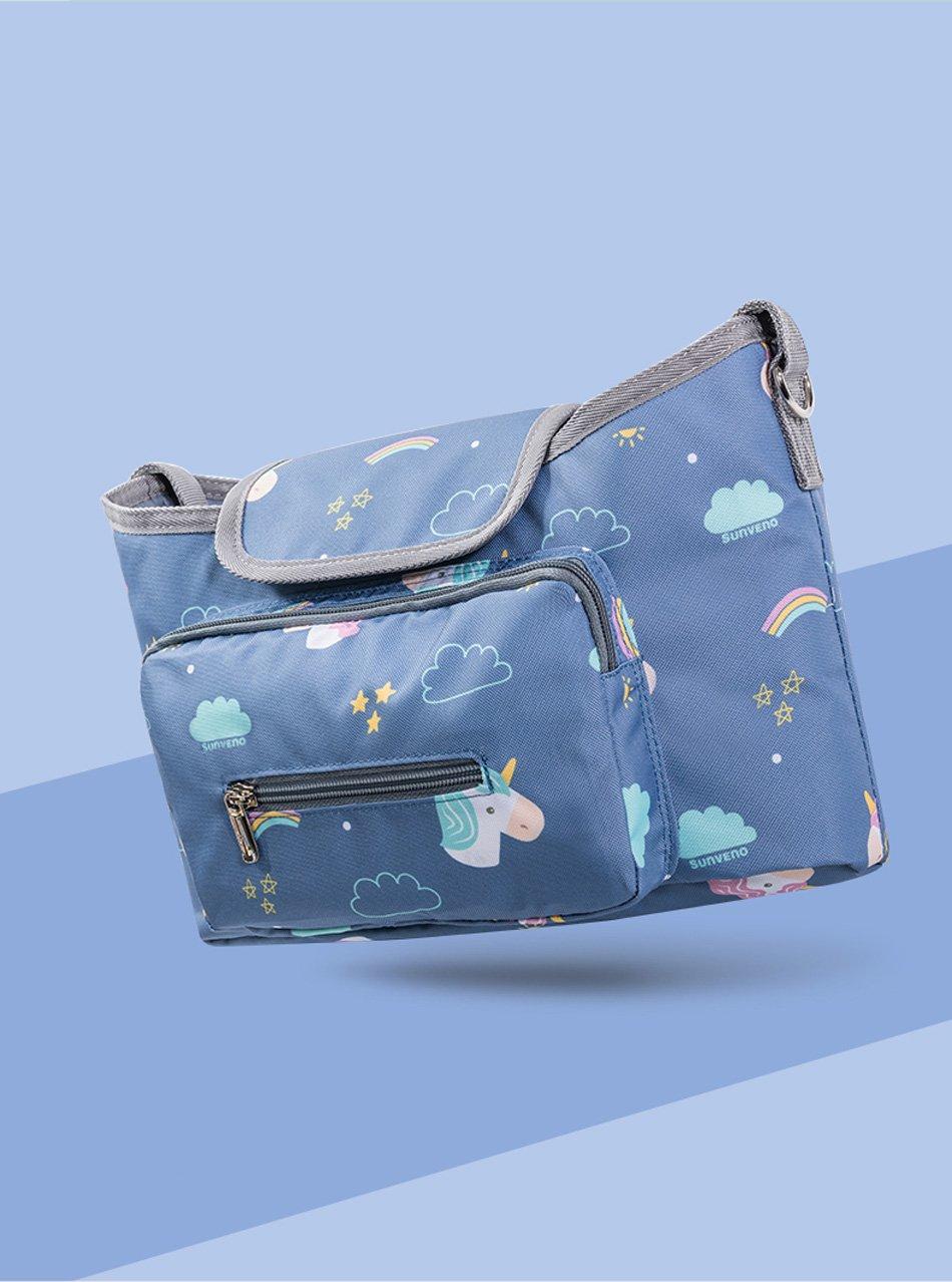 SUNVENO diaper bag, unicorn bag, Bébé Poussettes Sac Organisateur Étanche Couche Sac À Langer Poussette Accessoires stroller bag licorne