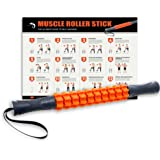 Kamileo Muscle Roller, Massage Roller for Relieving Muscle Soreness Cramping Tightness, Help Legs Back Joints Recovery (Workout Poster Included)