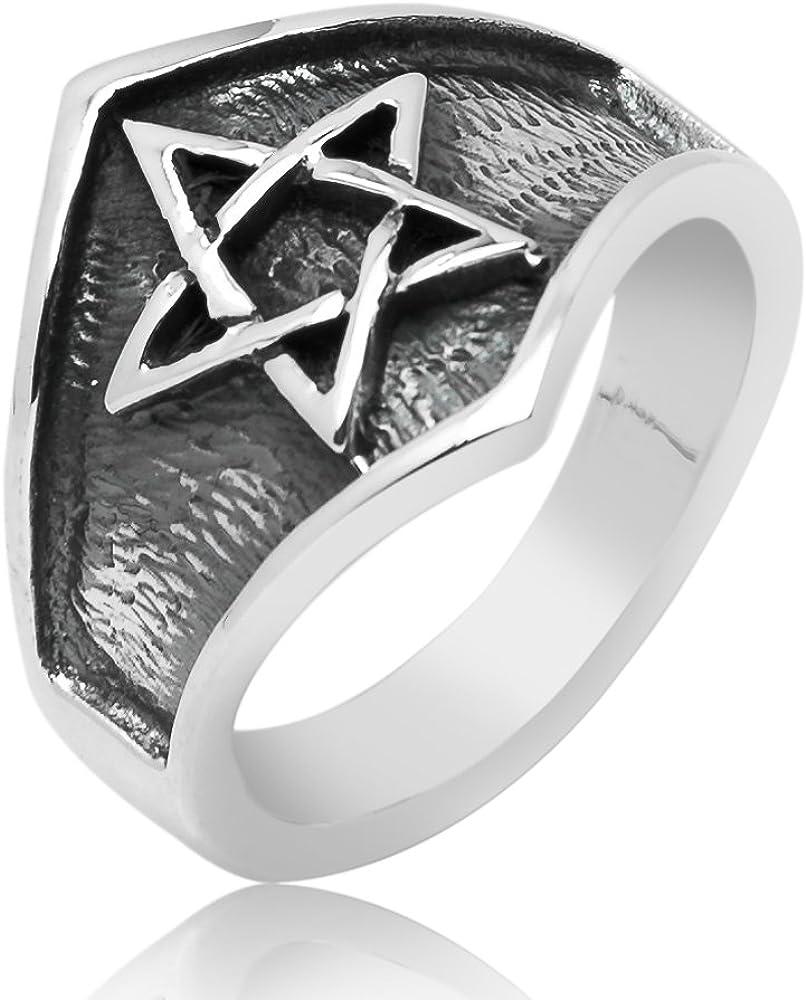 Sterling Silver Celtic Knot Cross Religious Oxidized Vintage Antique Ring for Women Men Unisex