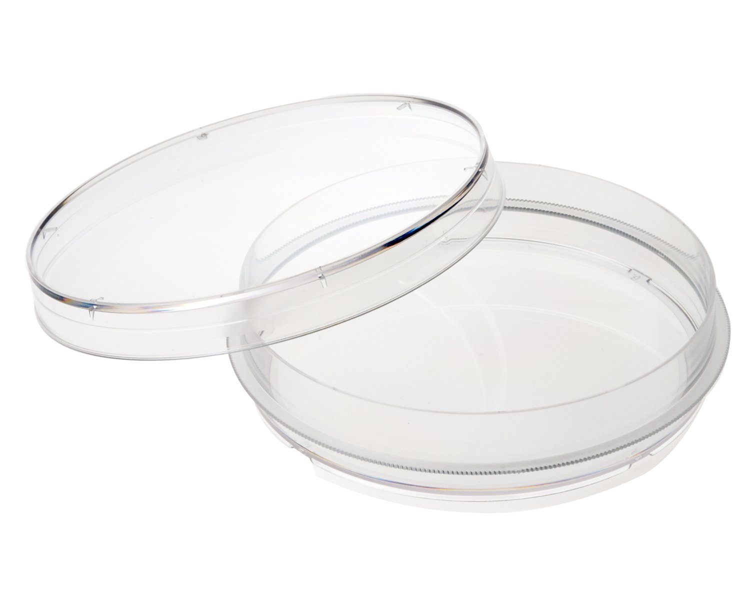 Celltreat 229620 Tissue Culture Treated Dish with Grip Ring, Sterile, 15-16mL Working Volume, 100mm D x 20mm H (Case of 300)