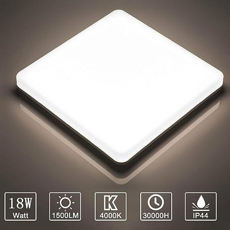 Yafido Plafón LED 18W Lámpara LED de Techo Moderno Blanco Natural ...
