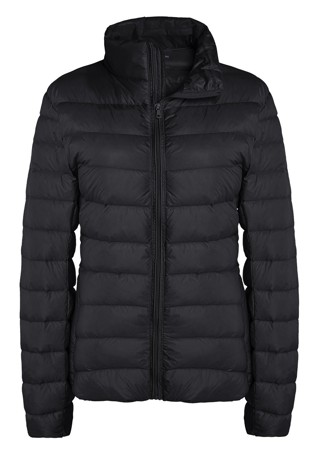 ZSHOW Women's Packable Quilted Down Jackets Light Weight Down Coat, US XX-Large, Black