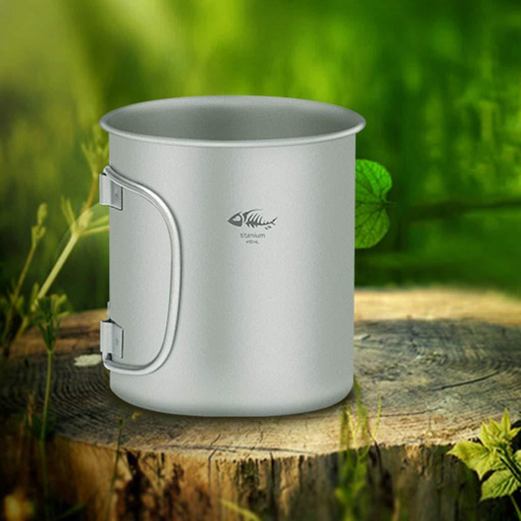 Chirpa EDC Titanium Pot Ultralight Portable Water Mug Outdoor Camping Cooking Cup Mug 450ML