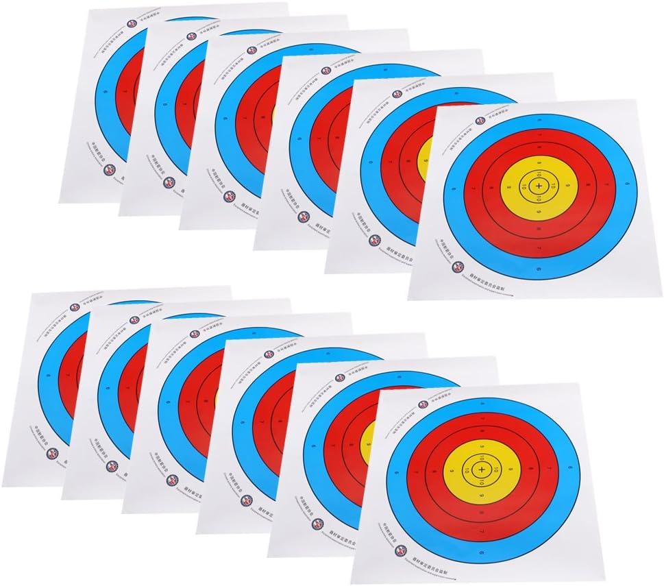 10 Stück Papierauflage Zielpapier Zielscheiben Scheibenauflage