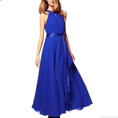 Irregular Chiffon Full Skirt Evening Wedding Dress, Royal Blue