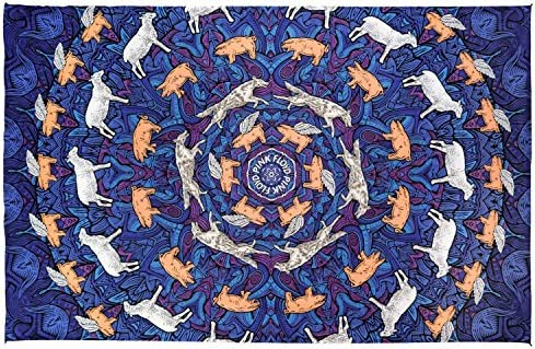 Sunshine Joy 3D Pink Floyd Animals Tapestry Psychedelic Wall Art Huge 60×90 Inches