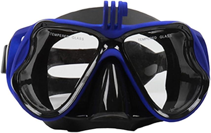 Baoblaze Schnorchelmaske Taucherbrille Tauchermaske Schwimmbrille mit Kamera Halterung f/ür Erwachsene und Kinder