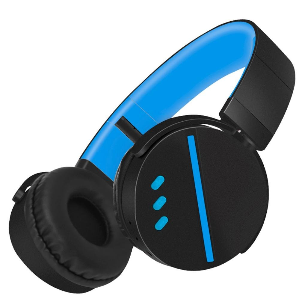 Somesun cuffie stereo bluetooth v4.1 HiFi cuffie Wireless pieghevole cuffie da gioco con microfono per PC MAC smartphone, Black SOMESUN2017111