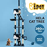 Cat Scratching Tree Post Sisal Pole Condo House Furniture Multi level Blue 260cm