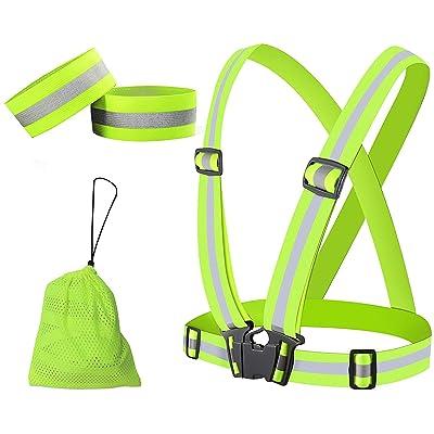 Safe Reflective Vest Belt Night Running Jogging Biking Elastic Safety Vest