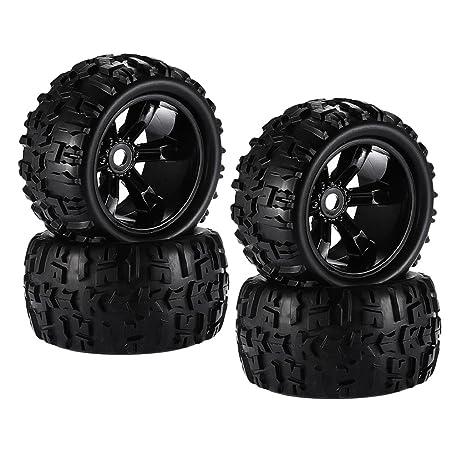 Homyl 4 pcs Ruedas Neumáticos 8477 para HSP HPI E-MAXX Savage Flux LRP 1