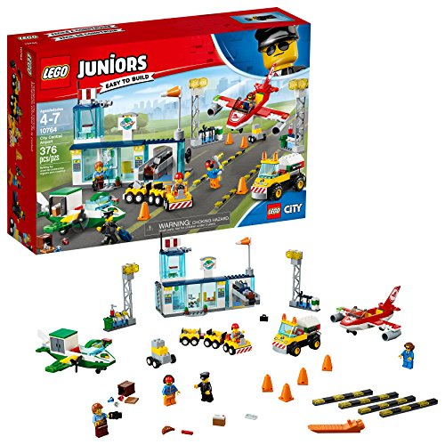 LEGO Juniors City Central Airport 10764 Building Kit (376 Piece)