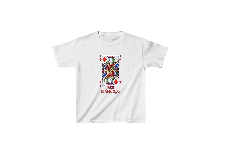 White, XL Zik Smart Solution Jack of Diamonds Kids Heavy Cotton Tee