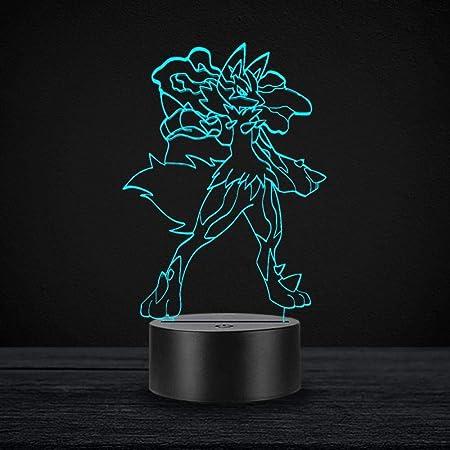 PONLCY Neuheit 3D Illusion Lampen LED Feuerwehrauto USB 7 Farben Sensor Schreibtischlampe f/ür Kinder Weihnachten Geburtstagsgeschenke Dekoration