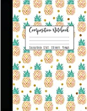 """Pineapple Composition Notebook College Ruled: Large Notebook College Ruled, Girl Composition Notebook, College Notebooks, Pineapple School Notebook, Composition Book, 8.5"""" x 11"""""""