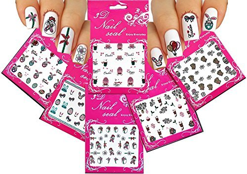 Cheek Bunny - Festive & Fun 3D Nail Stickers Decals /LD1/- Rooster, Easter Egg, Bunny, Baby Cheek, etc. - by La Demoiselle
