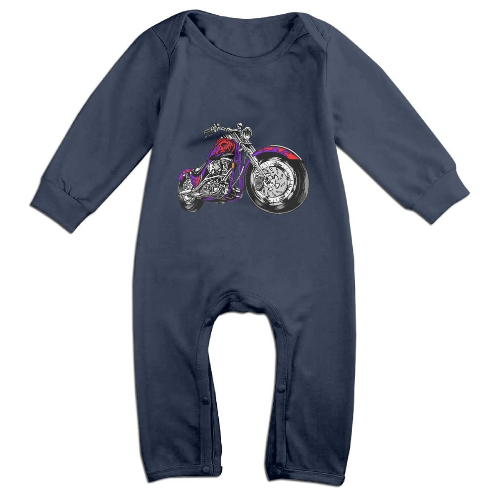 Efbj Baby Rompers Cool Motorcycle Coverall Romper Unisex Bodysuit Clothes Jumpsuit Pajamas