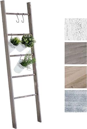 CLP Escalera de Decoración Mariette I Escalera Decorativa de Madera con 5 Peldaños I Toallero en Estilo Rústico I Color: Marrón Oscuro: Amazon.es: Hogar