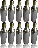 Unisex's C1610T2 Co2 Cartridges-Gold, 10 x 16 g, Silver, 16 g