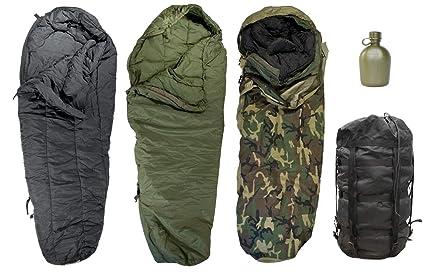 quality design e3749 65907 Genuine US Military Modular Sleep System 4 Piece with Woodland Goretex Bivy  Cover and Carry Sack + Free Canteen