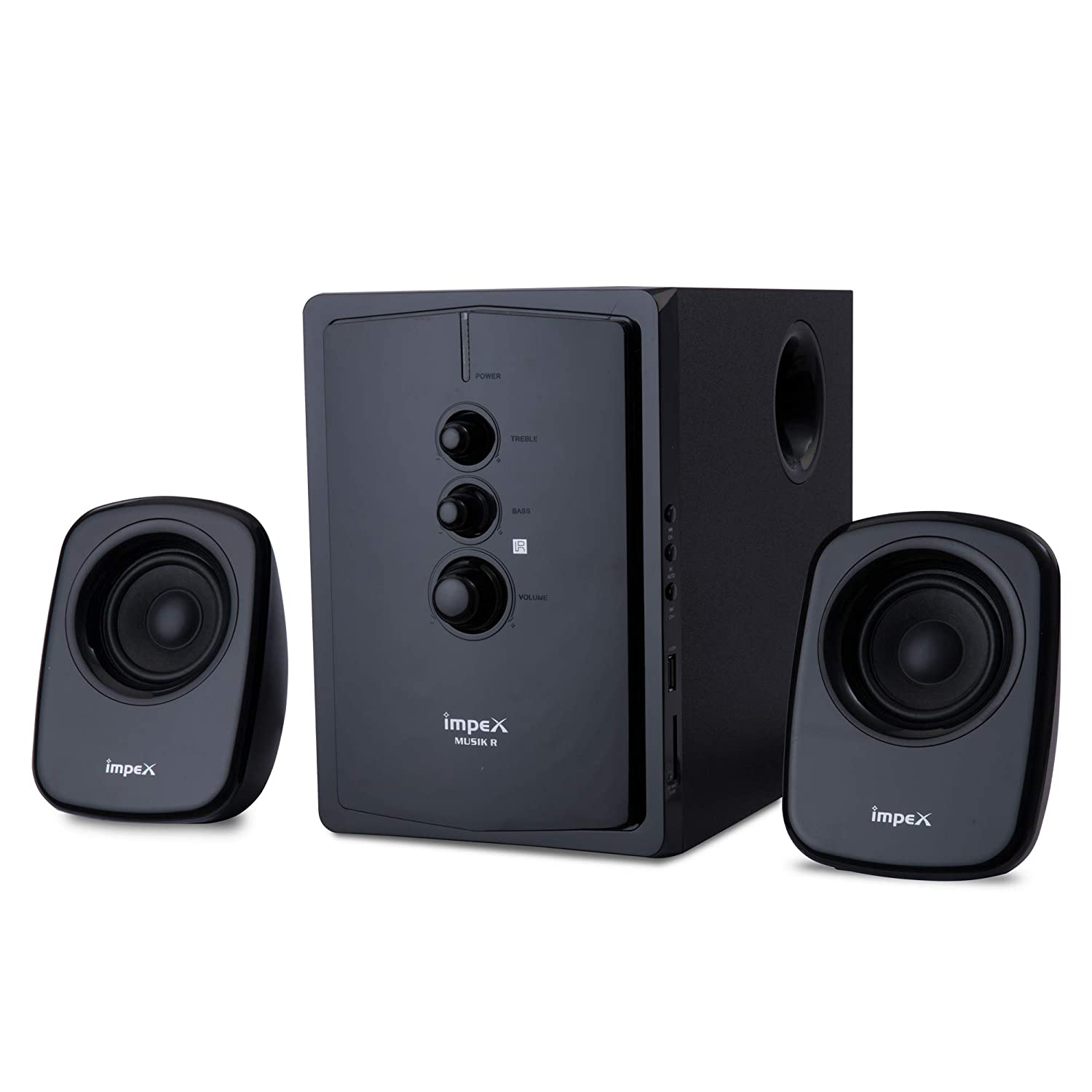 Impex 2.1 MUSIK-R 40 W Portable Multimedia Bluetooth Speaker System (Black)