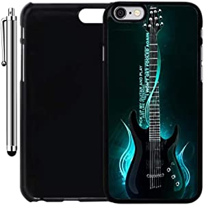 Custom Case Compatible with iPhone 6/6S (4.7 inch) (One Cool Electric Guitar) Plastic Black Cover Ultra Slim | Lightweight | Includes Stylus Pen by Innosub