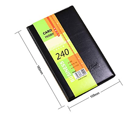 Amazon leather cards business name id credit card holder book leather cards business name id credit card holder book case keeper organizer 240 cards colourmoves